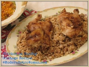 Monday Menu: Grandma's Chicken on Sunday