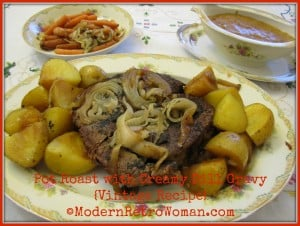 Pot Roast with Creamy Dill Gravy ModernRetroWoman