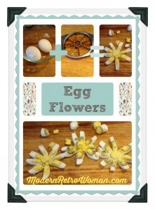 How to Make Egg Flowers from Hard Boiled Eggs