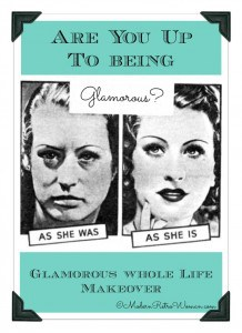 Are You Up To Being Glamorous Collage ModernRetroWoman.com